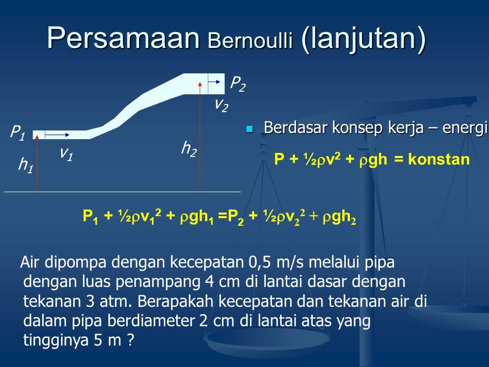 Persamaan Bernoulli (lanjutan)