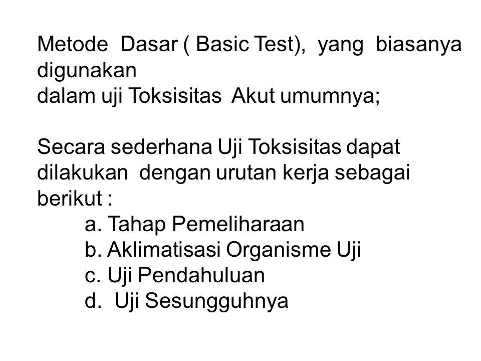 Metode Dasar ( Basic Test), yang biasanya digunakan