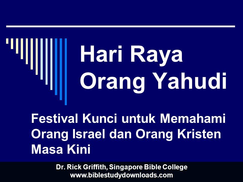 Festival Kunci untuk Memahami Orang Israel dan Orang Kristen Masa Kini