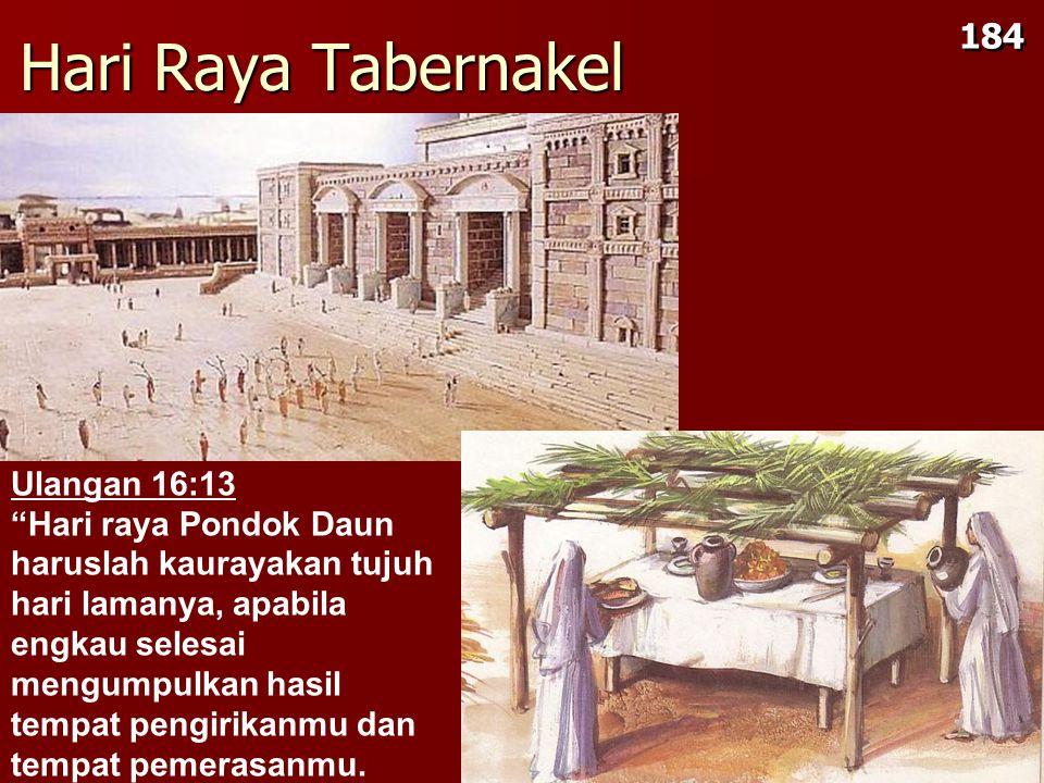 Hari Raya Tabernakel 184 Ulangan 16:13
