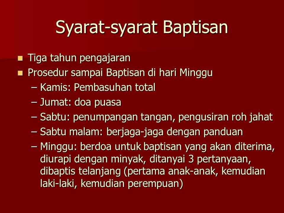 Syarat-syarat Baptisan