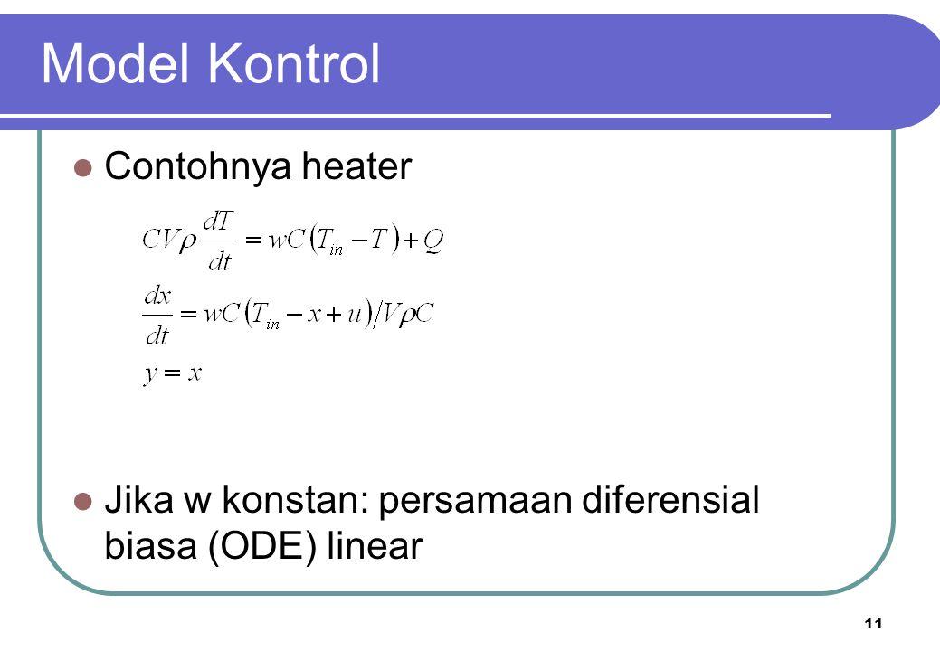 Model Kontrol Contohnya heater