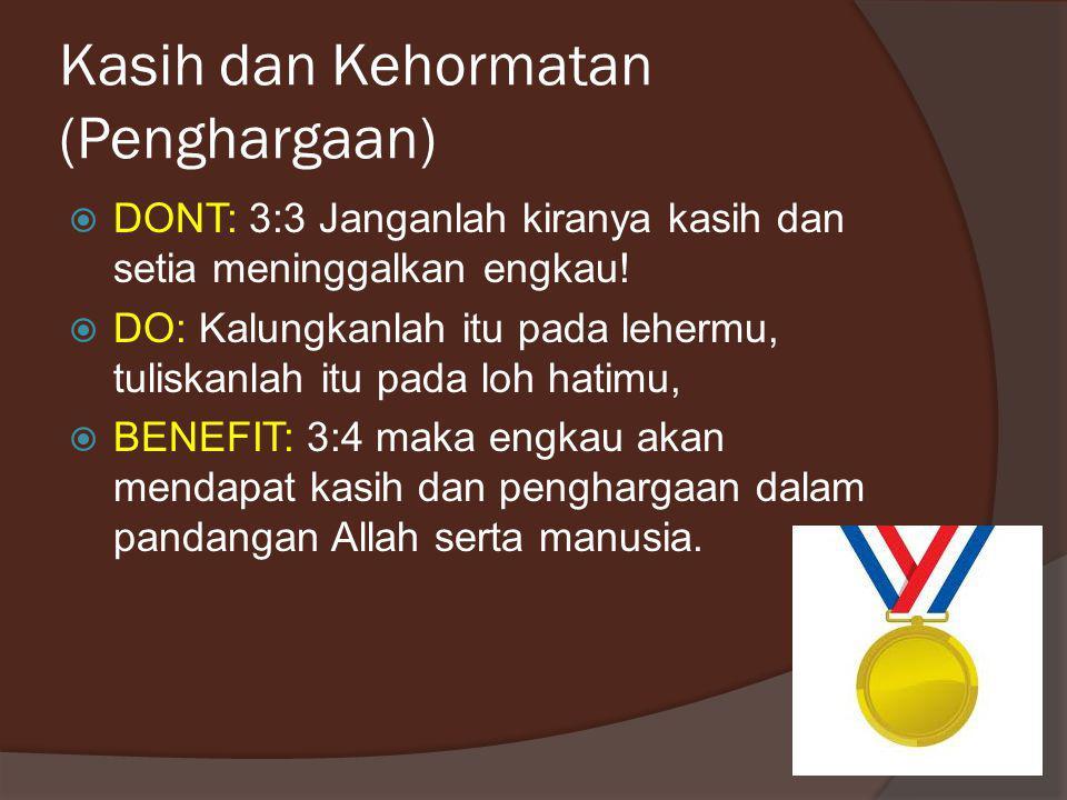 Kasih dan Kehormatan (Penghargaan)