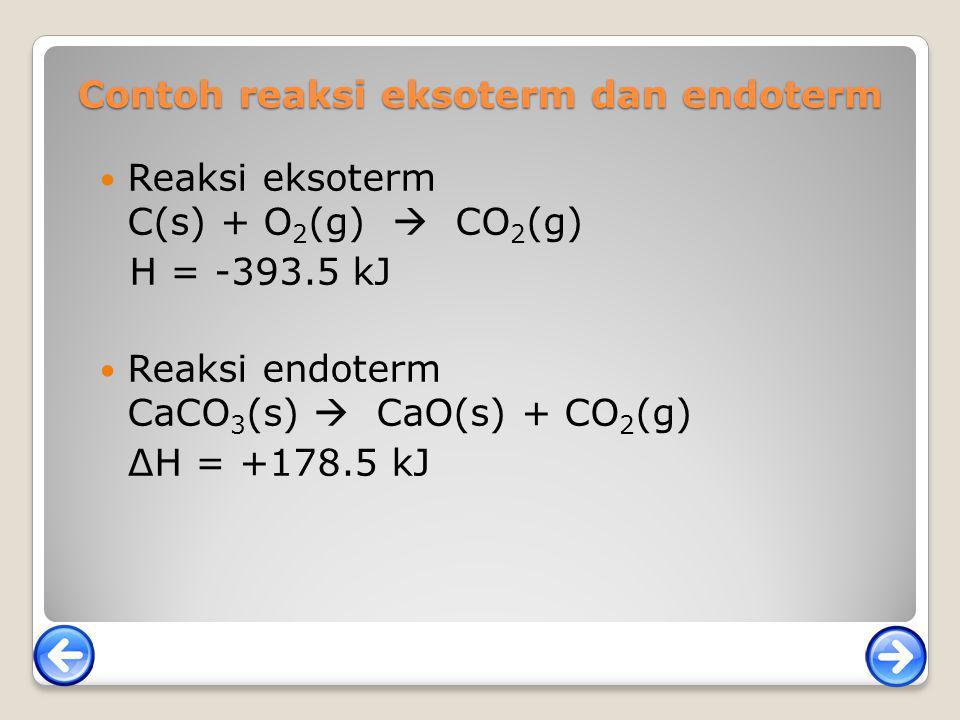 Contoh reaksi eksoterm dan endoterm