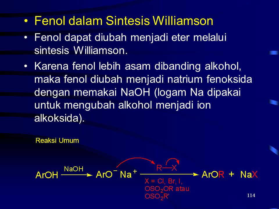 Fenol dalam Sintesis Williamson