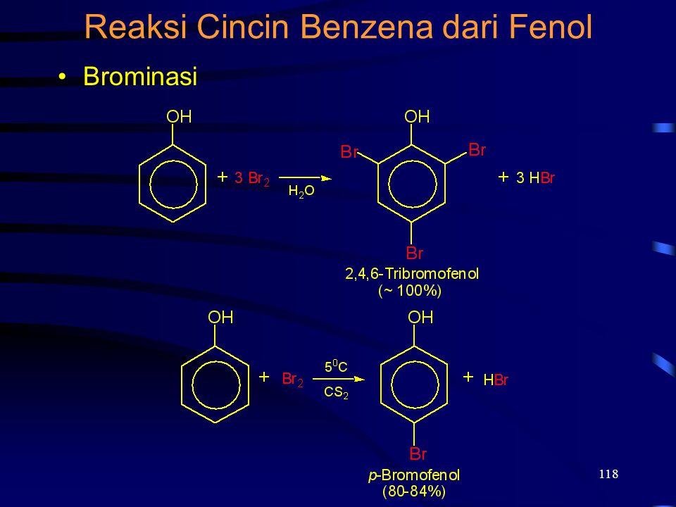 Reaksi Cincin Benzena dari Fenol