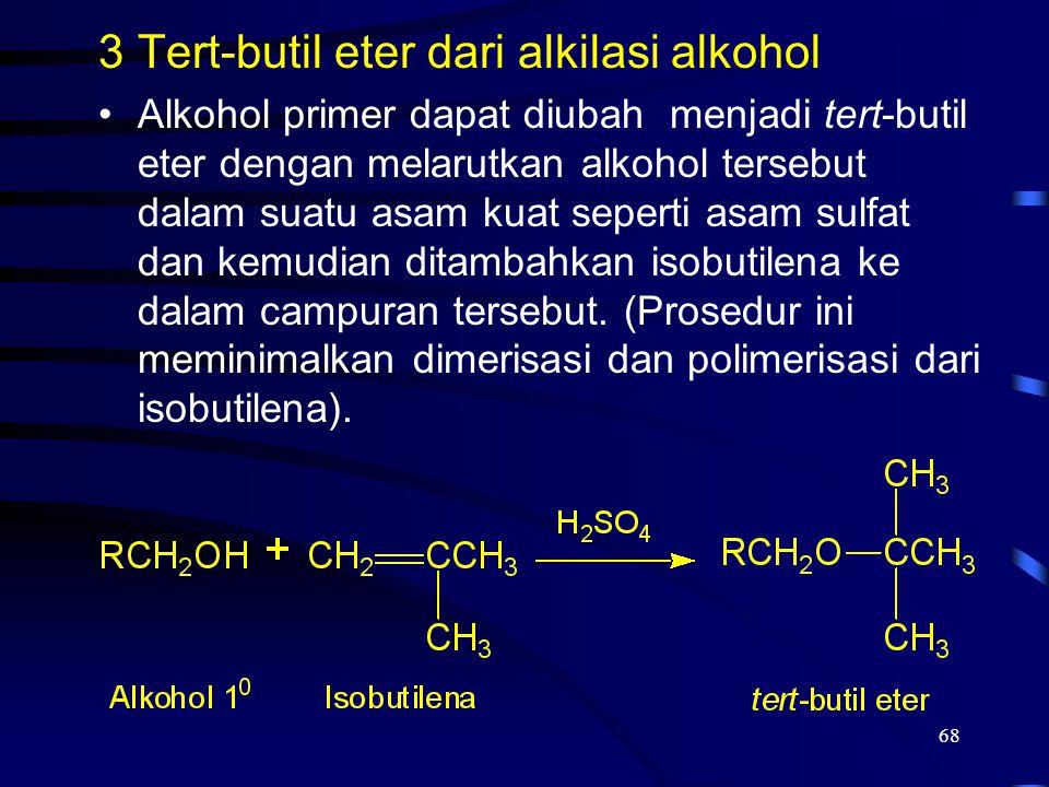 Tert-butil eter dari alkilasi alkohol