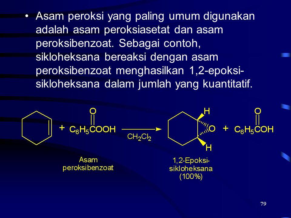 Asam peroksi yang paling umum digunakan adalah asam peroksiasetat dan asam peroksibenzoat.