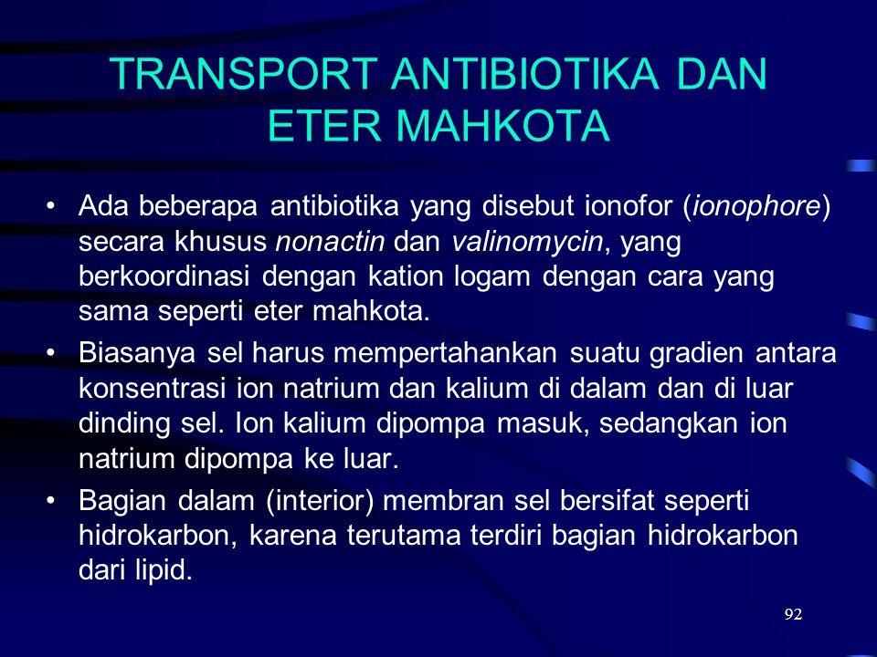 TRANSPORT ANTIBIOTIKA DAN ETER MAHKOTA