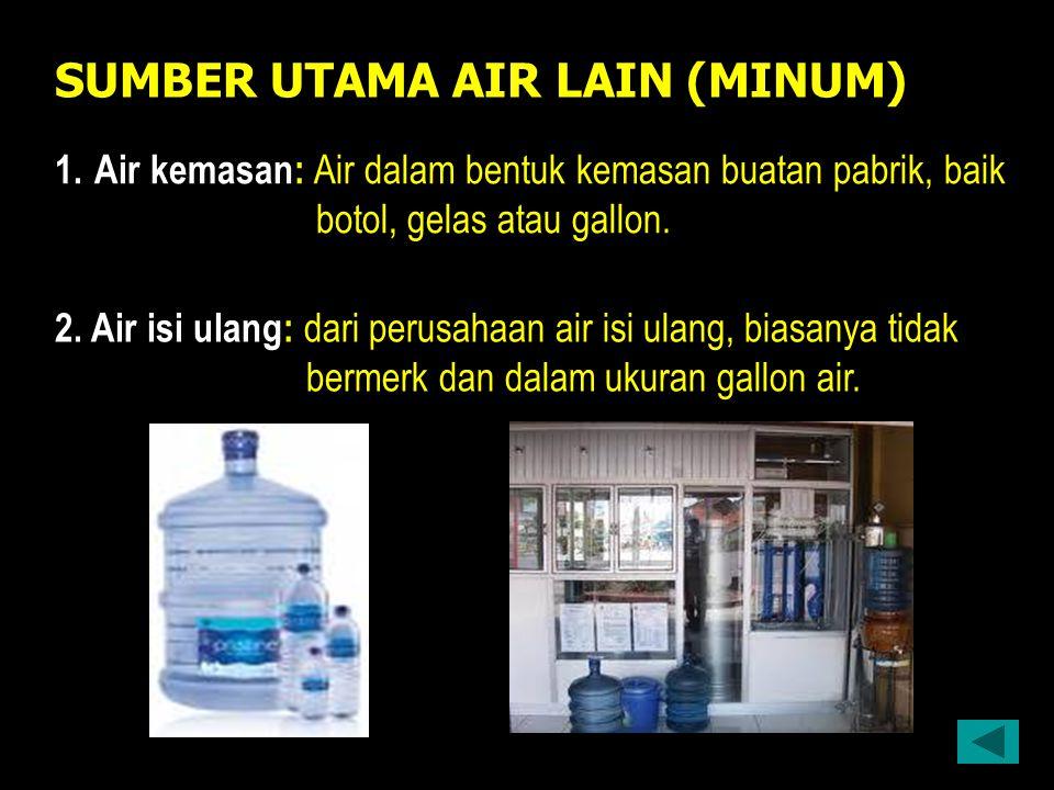 SUMBER UTAMA AIR LAIN (MINUM)