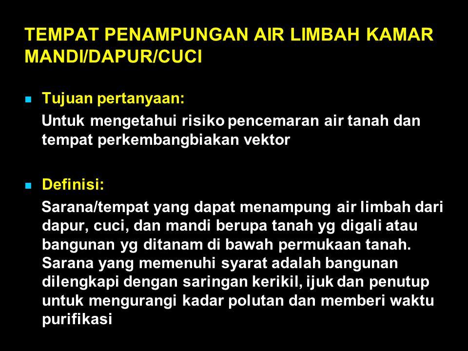 TEMPAT PENAMPUNGAN AIR LIMBAH KAMAR MANDI/DAPUR/CUCI