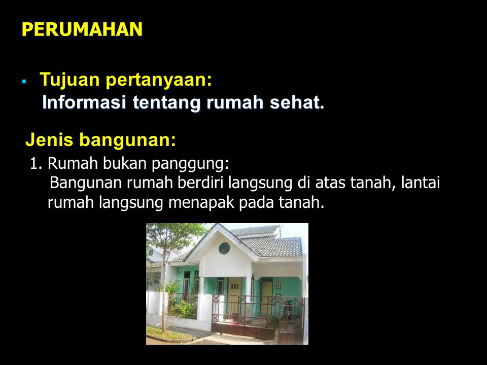 Informasi tentang rumah sehat.