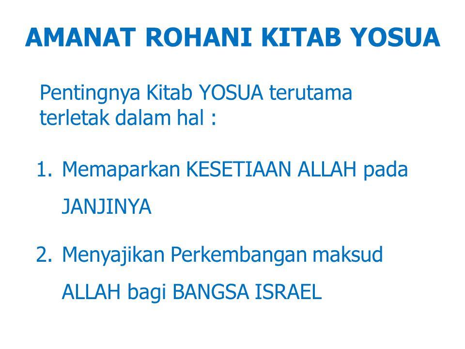 AMANAT ROHANI KITAB YOSUA