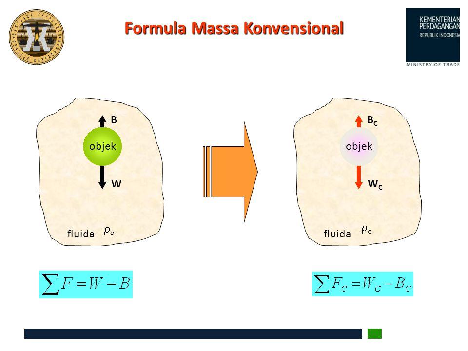 Formula Massa Konvensional