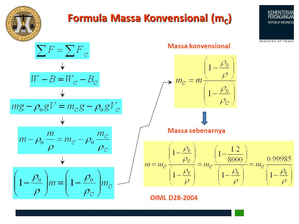 Formula Massa Konvensional (mC)