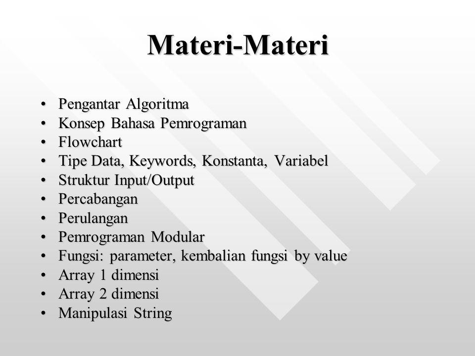 Materi-Materi Pengantar Algoritma Konsep Bahasa Pemrograman Flowchart