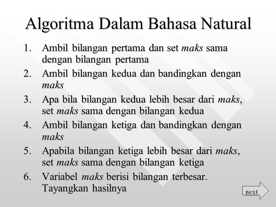 Algoritma Dalam Bahasa Natural