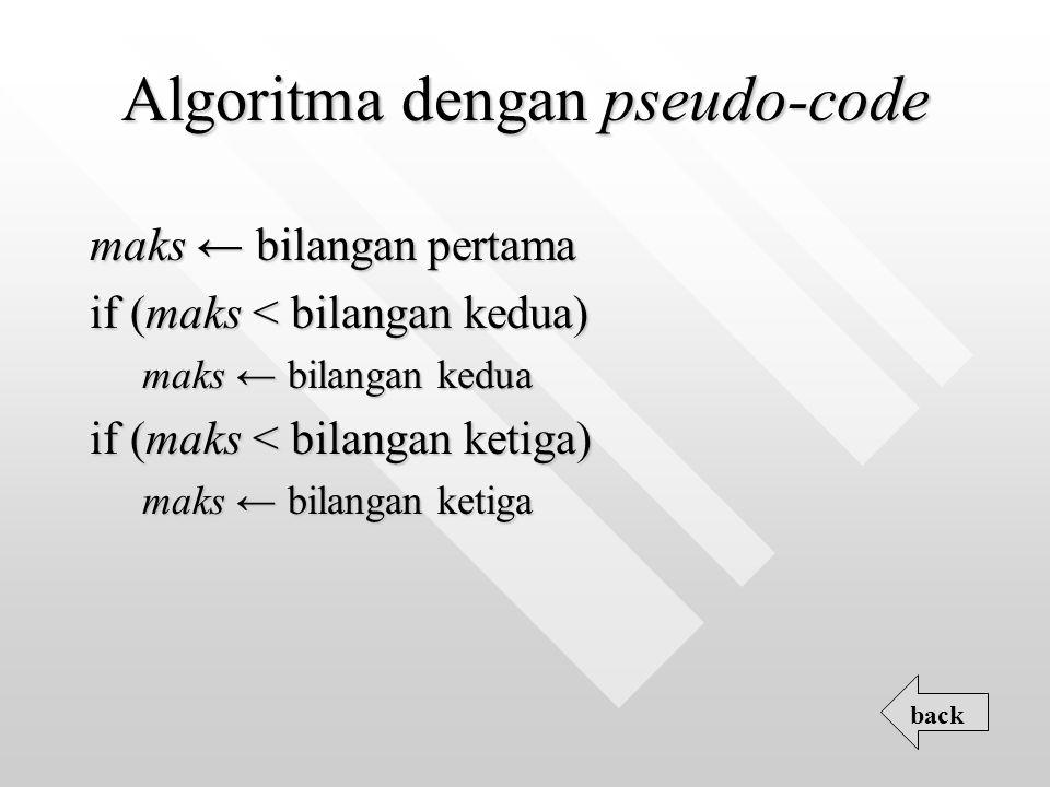 Algoritma dengan pseudo-code