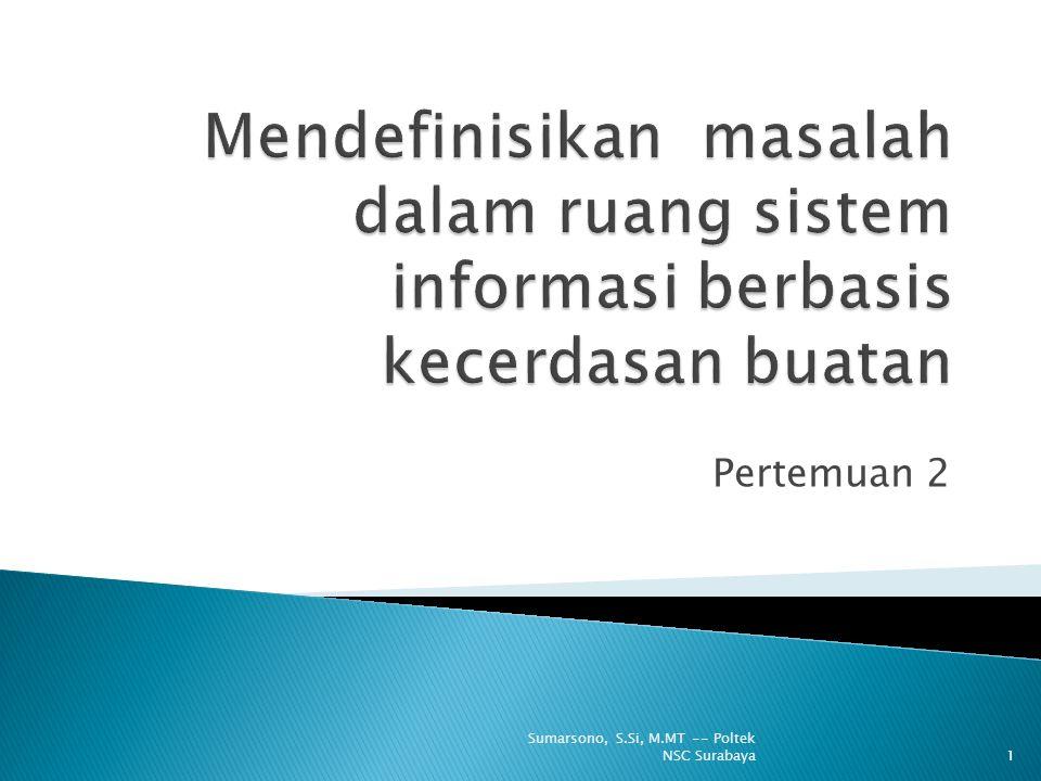 Mendefinisikan masalah dalam ruang sistem informasi berbasis kecerdasan buatan