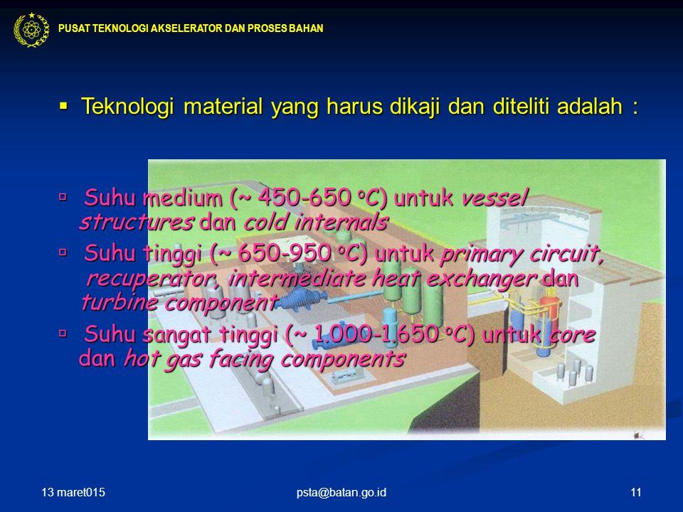  Teknologi material yang harus dikaji dan diteliti adalah :