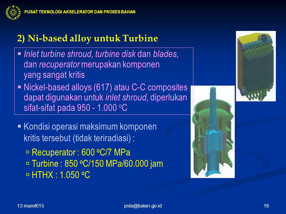 2) Ni-based alloy untuk Turbine