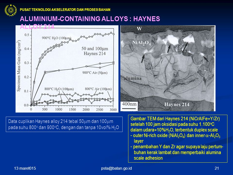ALUMINIUM-CONTAINING ALLOYS : HAYNES ALLOY 214