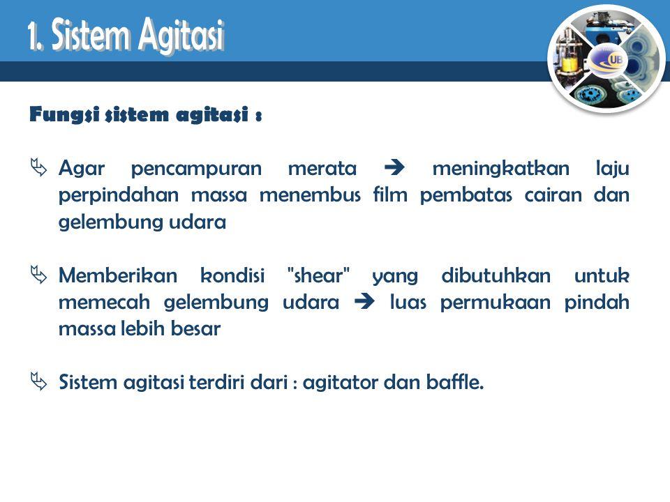 1. Sistem Agitasi Fungsi sistem agitasi :
