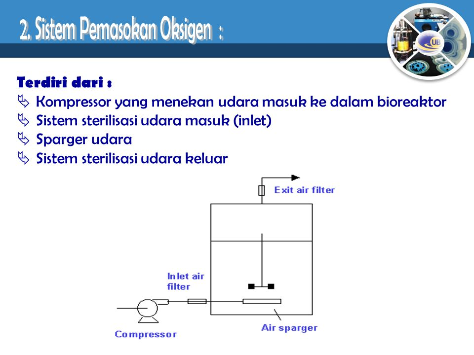 2. Sistem Pemasokan Oksigen :