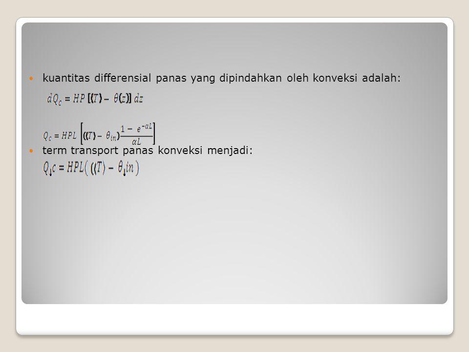 kuantitas differensial panas yang dipindahkan oleh konveksi adalah: