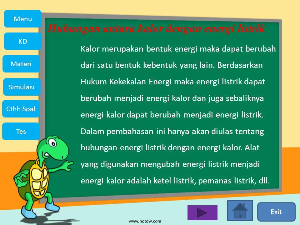 Hubungan antara kalor dengan energi listrik
