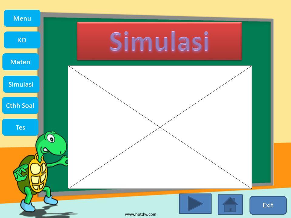 KD Simulasi Materi Tes Cthh Soal Menu Menu Simulasi Exit