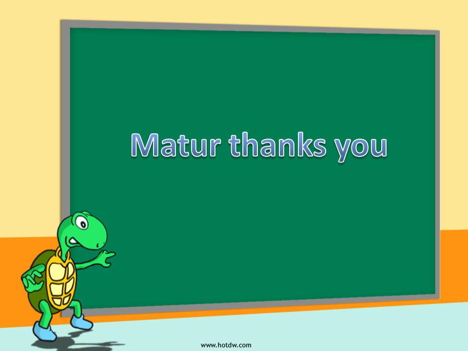 Matur thanks you