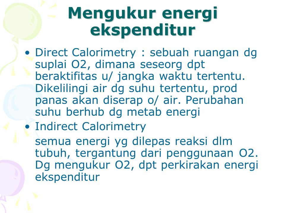 Mengukur energi ekspenditur
