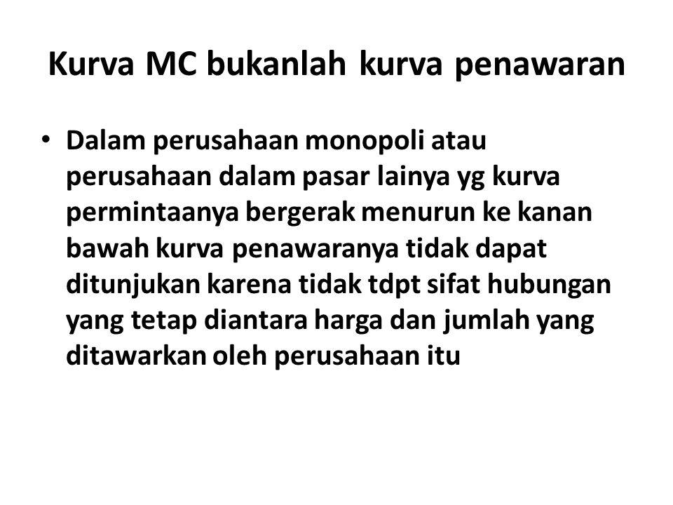 Kurva MC bukanlah kurva penawaran