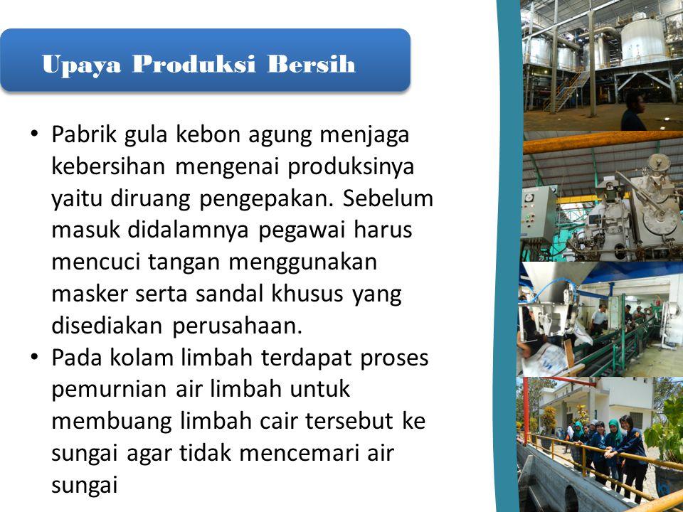 Upaya Produksi Bersih