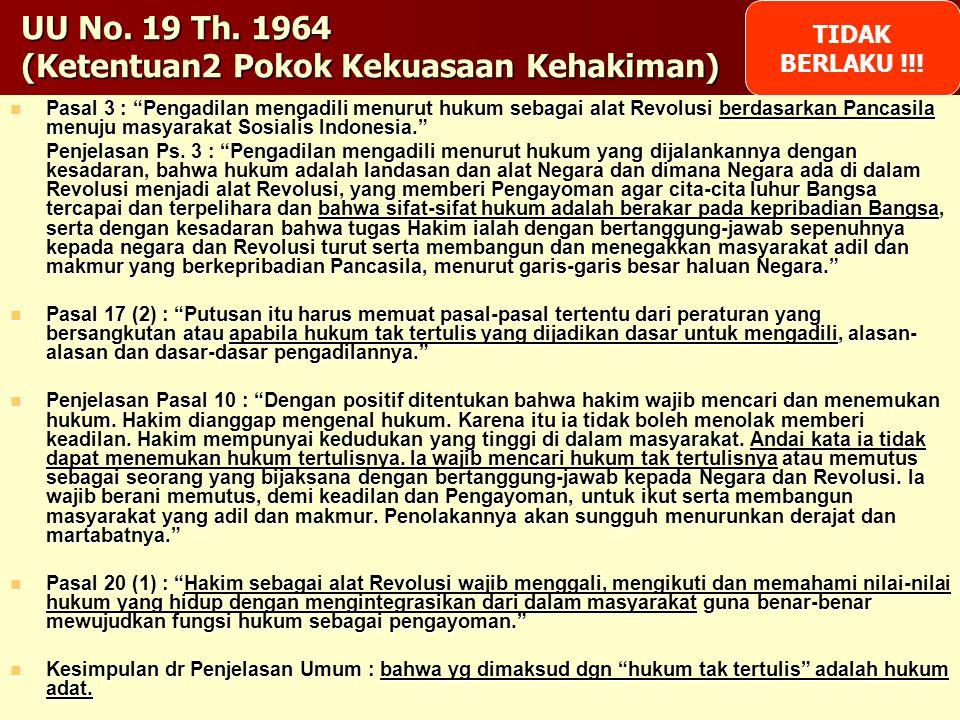 UU No. 19 Th. 1964 (Ketentuan2 Pokok Kekuasaan Kehakiman)