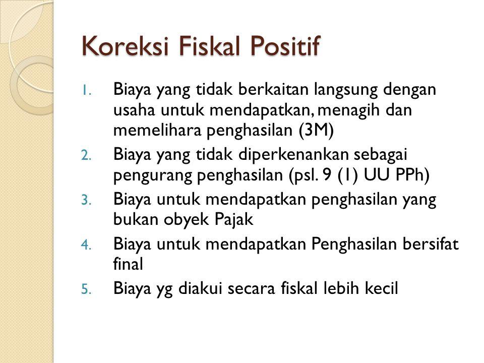 Koreksi Fiskal Positif