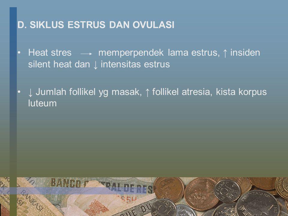 D. SIKLUS ESTRUS DAN OVULASI