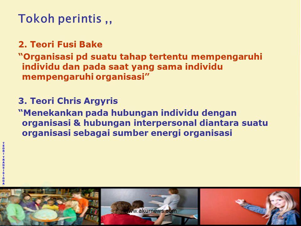 Tokoh perintis ,, 2. Teori Fusi Bake