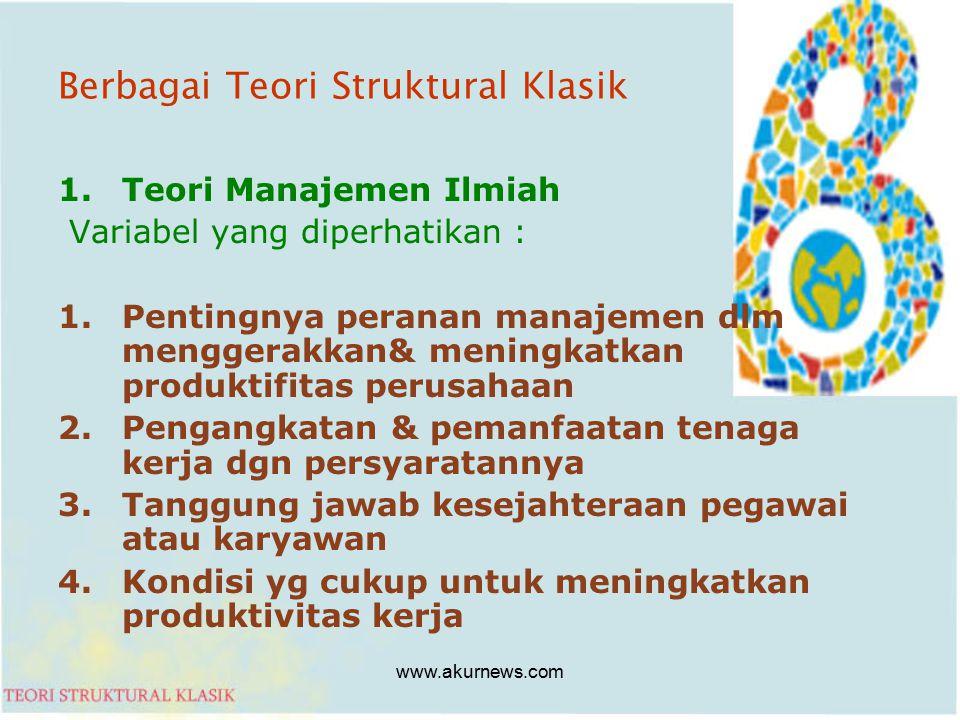 Berbagai Teori Struktural Klasik