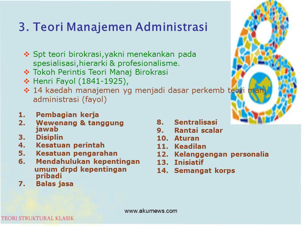3. Teori Manajemen Administrasi