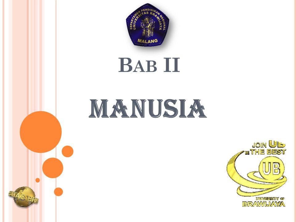 Bab II MANUSIA