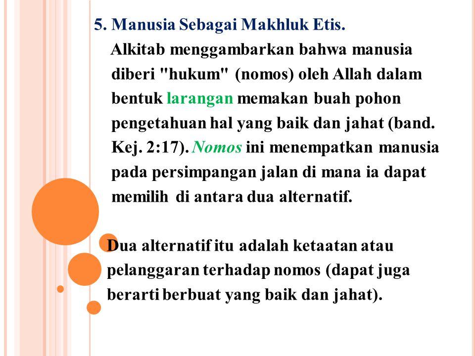 5. Manusia Sebagai Makhluk Etis.