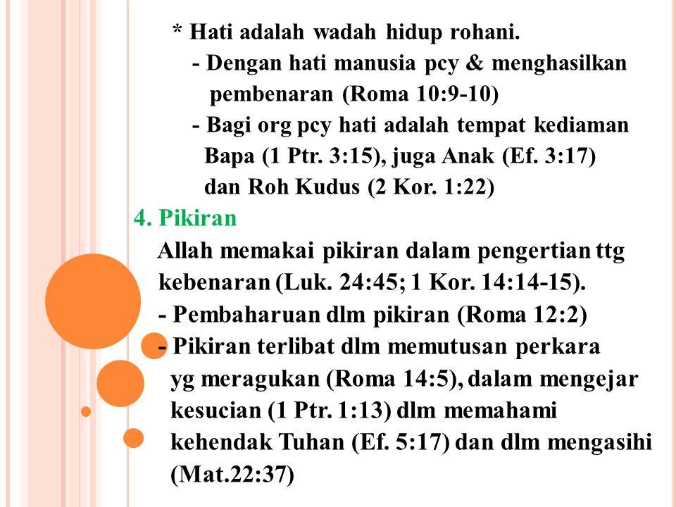 Allah memakai pikiran dalam pengertian ttg