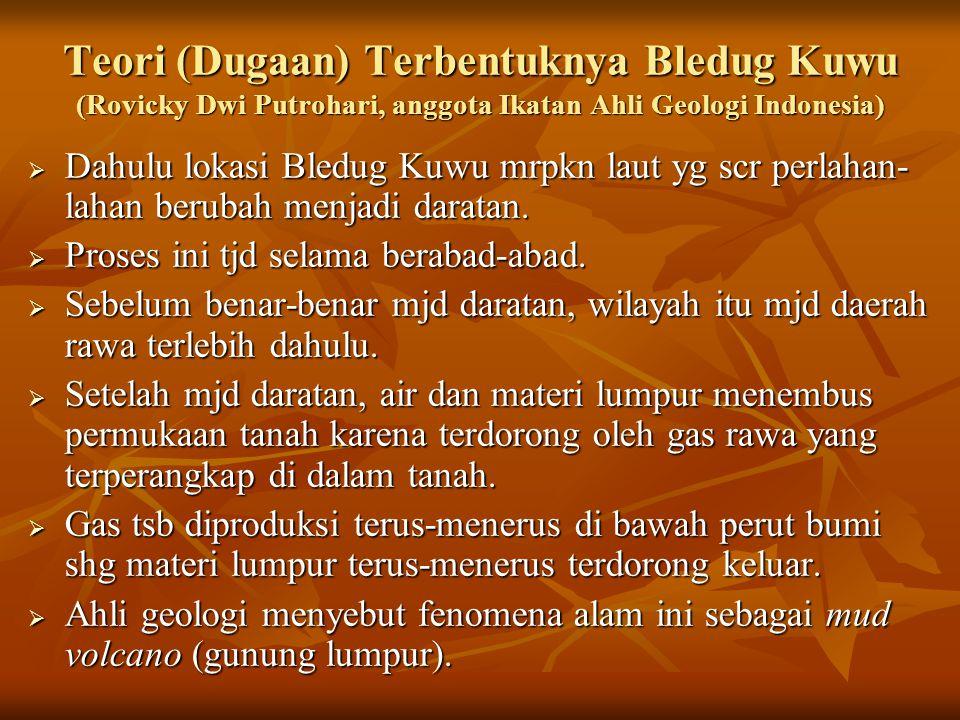 Teori (Dugaan) Terbentuknya Bledug Kuwu (Rovicky Dwi Putrohari, anggota Ikatan Ahli Geologi Indonesia)