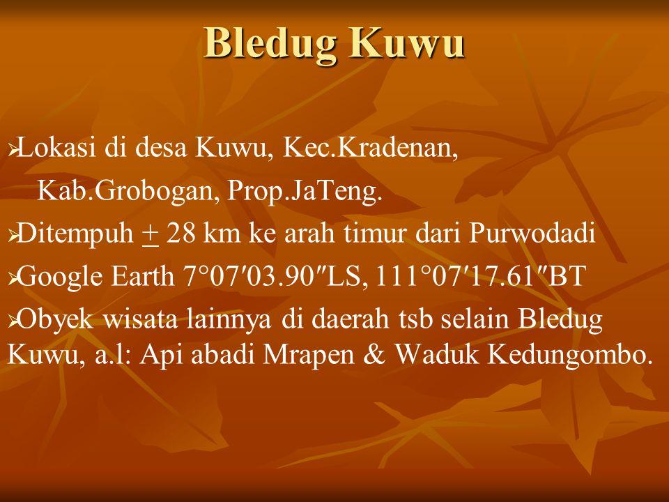 Bledug Kuwu Lokasi di desa Kuwu, Kec.Kradenan,
