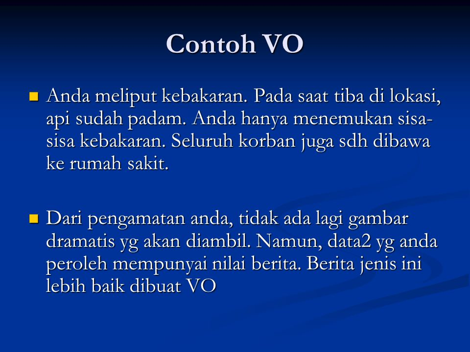 Contoh VO