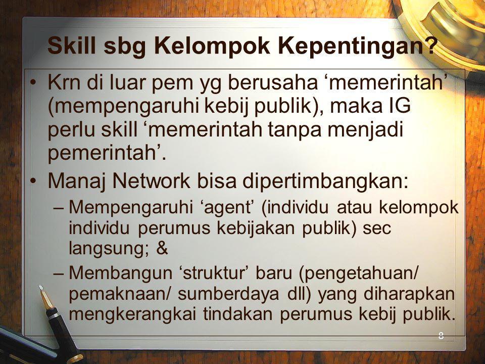 Skill sbg Kelompok Kepentingan