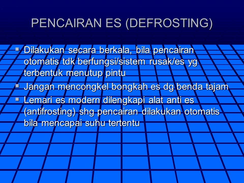PENCAIRAN ES (DEFROSTING)