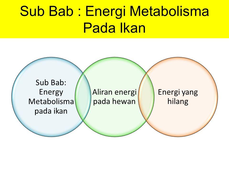 Sub Bab : Energi Metabolisma Pada Ikan